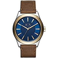 Armani Exchange Men's Dress Brown Leather Watch AX2334