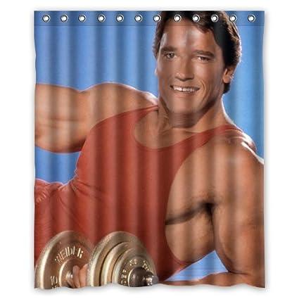 Arnold Schwarzenegger Body Custom Shower Curtain 60 Inch X 72