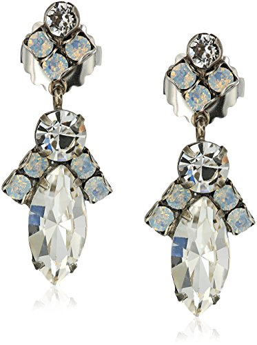 Sorrelli White Bridal Elegant Navette Drop Earrings - Sorrelli White Earrings