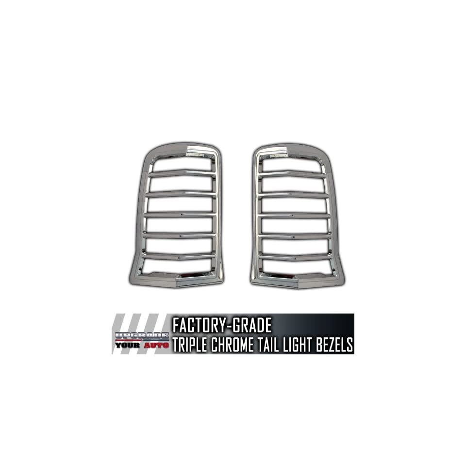 2002 2006 Cadillac Escalade SUV 2pc Chrome Tail Light Bezels
