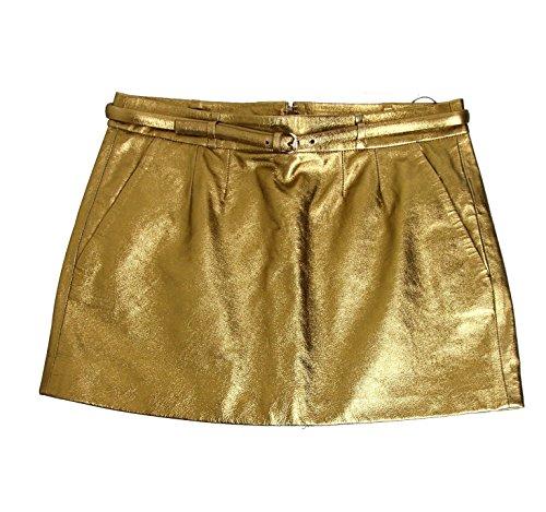 Belt Horsebit - Gucci Women's Gold Leather Horsebit Belt Mini Skirt 284322 Size: 46