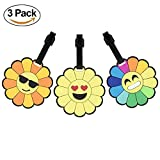 Funny Luggage Tags Kids Women Mens Personalized Carry on Travel Suitcase Baggage Bag Label Identifier Emoji Sticker Gifts