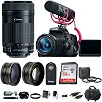 Canon EOS Rebel T6i DSLR Video Creator Kit with 18-55mm & 55-250mm Lens + 32GB Accessory Bundle Explained Review Image