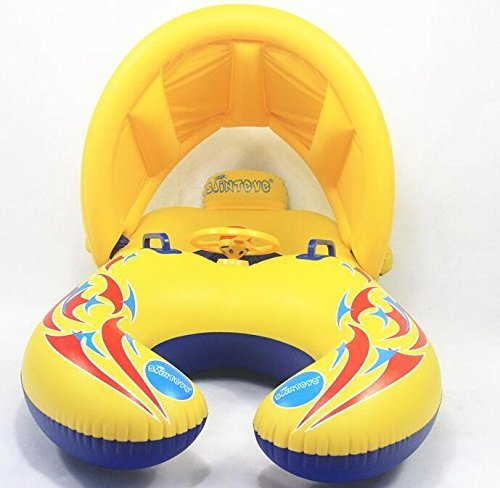 HSOMiD Parents and Child Siamesed Inflatable Baby Kids Fl...