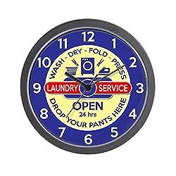 CafePress Retro Laundry Room Unique Decorative 10 Wall Clock