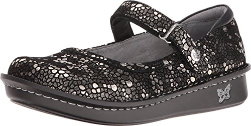 (Alegria Womens Belle Pewter Mosaic Mary Jane - 37 M)