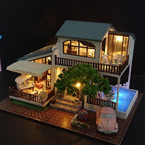 Wyd Wyd DIY London London Holiday木製ドールハウスミニチュア人形House DIY LEDライトアセンブリキット3dパズルクラフトトイクリエイティブ子供誕生日ギフト B07CG4J8BH, 新潟精機:07d65bbe --- alumnibooster.club