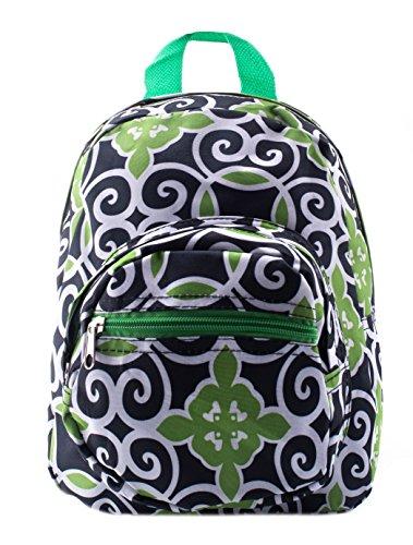 Mini Backpack - Swirl - Blue with Green
