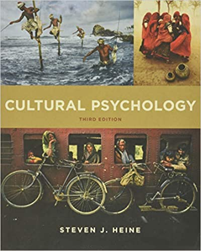 Amazon Com Cultural Psychology 9780393263985 Heine Steven J Books