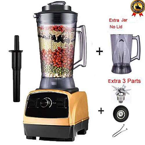 2800W 4.0L 3HP commercial professional smoothies powerful blender food mixer juicer with german motor technology,gold 3parts jar1,China,US Plug