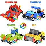 WEofferwhatYOUwant Stem Construction Building Flatblocks - 3D Puzzle of Flat Block to Build Figures Level 1- Cars. Collect Them All. Ages 4 Years and up.
