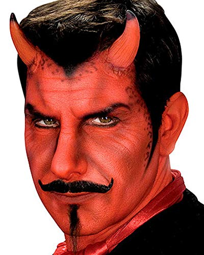 Adult Red Latex Prosthetic Demon Devil Horns -