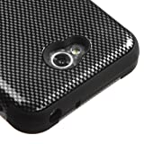 Kaleidio [MyBat TUFF] Armor Dual Layer Hybrid Case for LG Realm LS620 (Boost Mobile) / Ultimate II 2 L41C (Tracfone / NET10) [Includes a Overbrawn Prying Tool & Stylux Stylus] [Carbon Fiber Pattern]