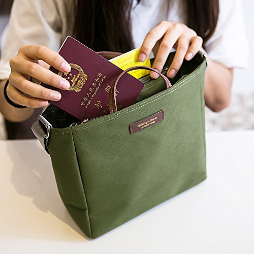 ADCorner Multifunctional Shoulder Bag Tote Light Weight Outdoor Bag Christmas gift Travel Bag Multi-pocket Messenger Handbag (Army Green) (Extra Small Handbag)