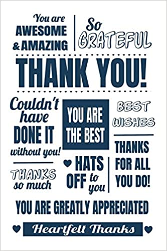 Thank You Thanks For All You Do Notebook Journal