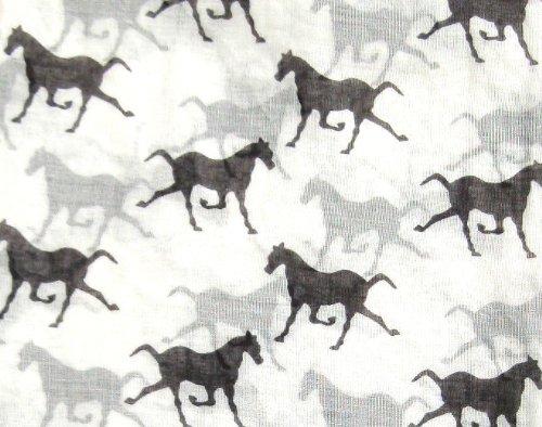 motivo Stampato donna con da Sciarpa scialle Scialli a con bianco A168 cavalli n0wxI70f