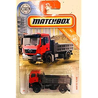 Matchbox Man TGS 18.440 Red 27/100 MBX Construction 11/20 Dump Truck Toy Veħicle