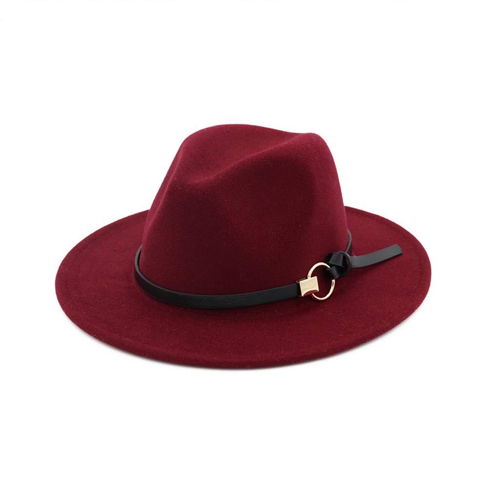 ala Ancha con Hebilla BaZhuaYu001 Sombrero cl/ásico de Panam/á para Mujer