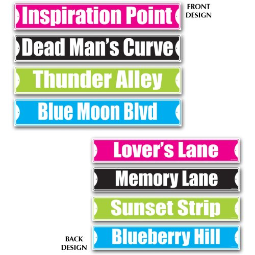 (Rock & Roll Street Sign Cutouts   (4/Pkg))