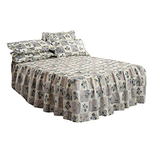 Emma Barclay Luxury Quilted Floral Alston Bedspread with Pillowshams Bedding Set (Queen) ()