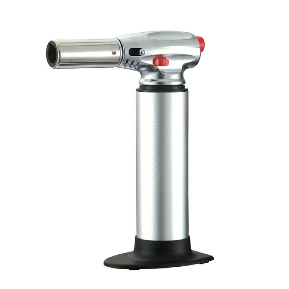 Navpeak 1300 Celsius Jet Flame Torch Butane Torch Lighter BBQ and The Kitchen (Silver)