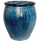 Large Ceramic Planter - Blue