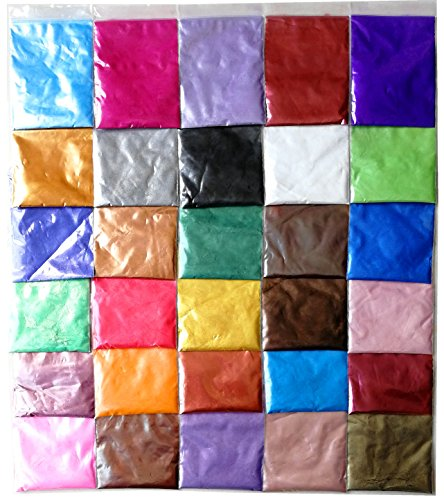 Soap Dye - Mica Powder Pigments for Bath Bomb - Soap Making Colorant - Candle Making, Eye Shadow, Blush, Nail Art, Resin Jewelry, Artist, Craft Projects (30 Colors (0.18 oz Each))