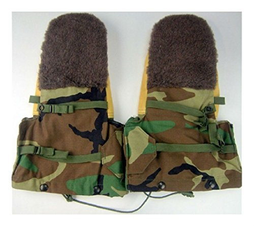 (NEW USGI Military Issue Woodland Camo Arctic Gloves Extreme Cold Weather Mittens Holiday Xmas Gift)