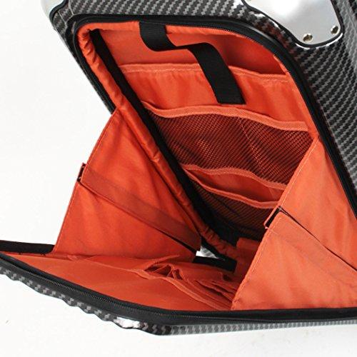 Enkloze X1 Carbon White Carry-On 21' Spinner 100% PC TSA Approved Front Loading Zipperless