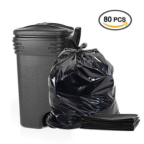 26 Gallon Trash Bags (Topgalaxt.Z Tall Kitchen Trash Bags, 26 Gallon, 80 Bags, Black trash bags, Large kitchen bags)