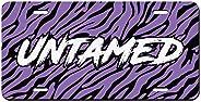 Untamed Purple Tiger Stripes Printed Vanity Front License Plate Tag Aluminum License Plate,Men/Women/Boy/Girls