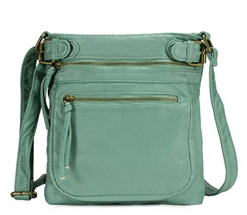 Scarleton Tri Zip Belt Accent Crossbody Bag H1984