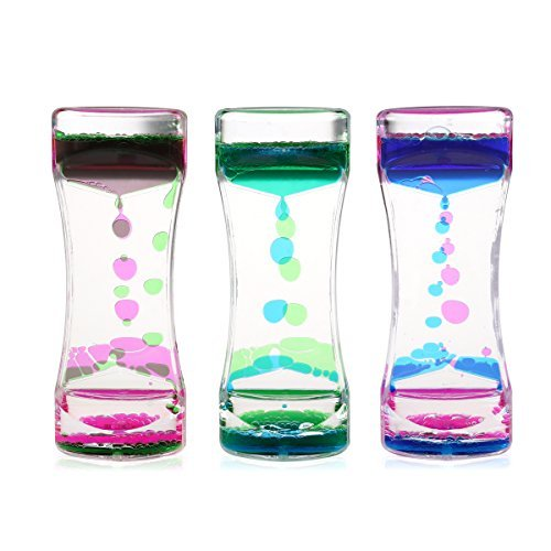 BESTOMZ 3 Pack Liquid Motion Timer Bubbler for Sensory Play, Fidget Toy (Lamp Anti Gravity)