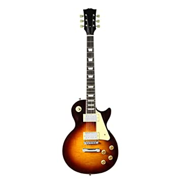 CDXDSV 38 pulgadas 22 trastes LP guitarra eléctrica Cherry Burst Color Maple Top Instrumento musical: Amazon.es: Instrumentos musicales