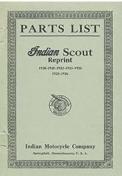 Parts List Indian Scout Reprint 1920 1921 1922 1923 1924 1925 1926