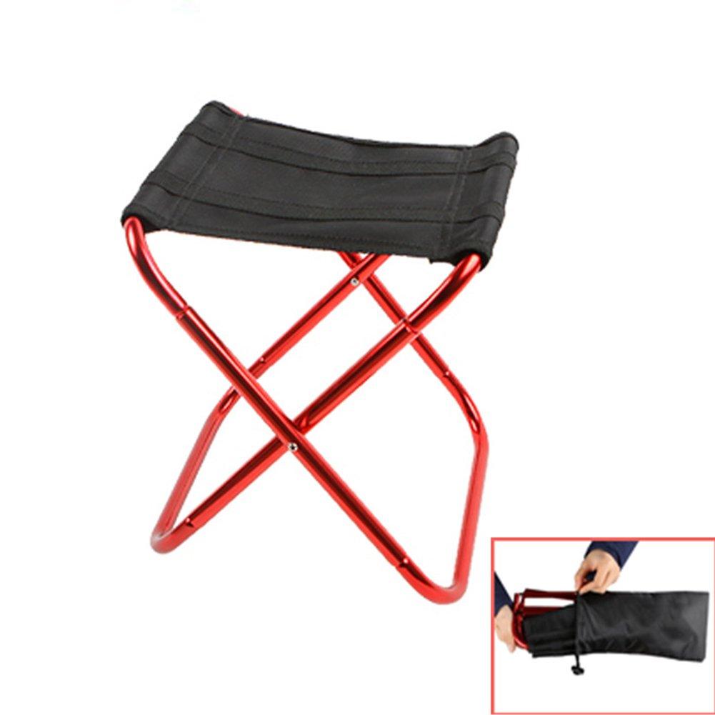 INLAR折りたたみ椅子キャンプスツール軽量ポータブルレジャーアウトドア釣り椅子のキャンプ、ピクニック、ビーチ、釣り、バックパッキング  ローズレッド B07FKSD6KH