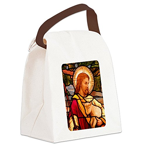 - Canvas Lunch Bag Jesus Christ Lamb Stained Glass