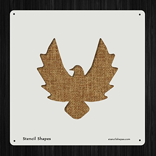 Eagle Animal Bird Birds Flight Style 9615 DIY Plastic Stencil Acrylic Mylar (Eagle Shape)