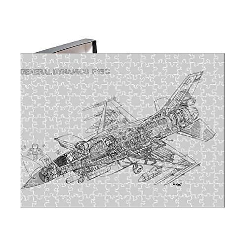 252 Piece Puzzle of Lockheed Martin F-16C Fighting Falcon Cutaway Drawing (1569733)