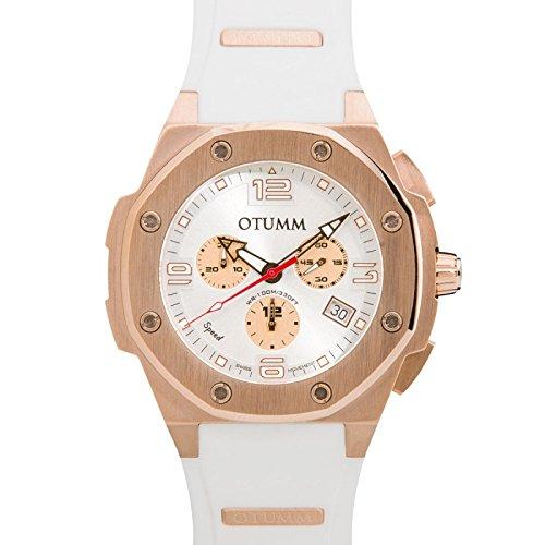 Otumm Speed Unisex Reloj con Correa en Blanco 45mm Chronograph: Amazon.es: Relojes