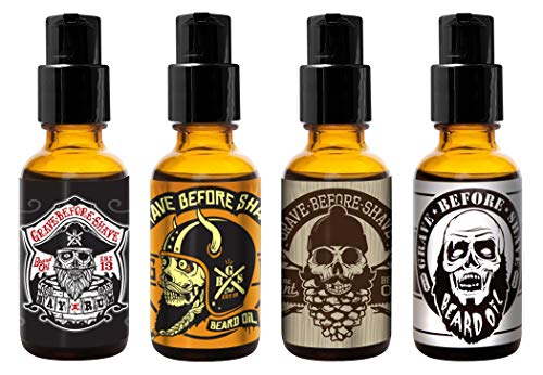 Grave Before ShaveTM Beard Oil 4 Pack