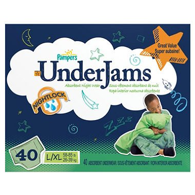 Pampers UnderJams Underwear - Boys - Large/X-Large - 40 ct