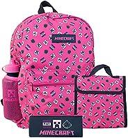 Minecraft Kids Backpack Pink 4 Piece Set