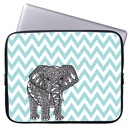 Elonbo 13-Inch Fashion Cute Cartoon Elephant Neoprene Laptop Soft Sleeve Case Bag Pouch Cover for 13.3