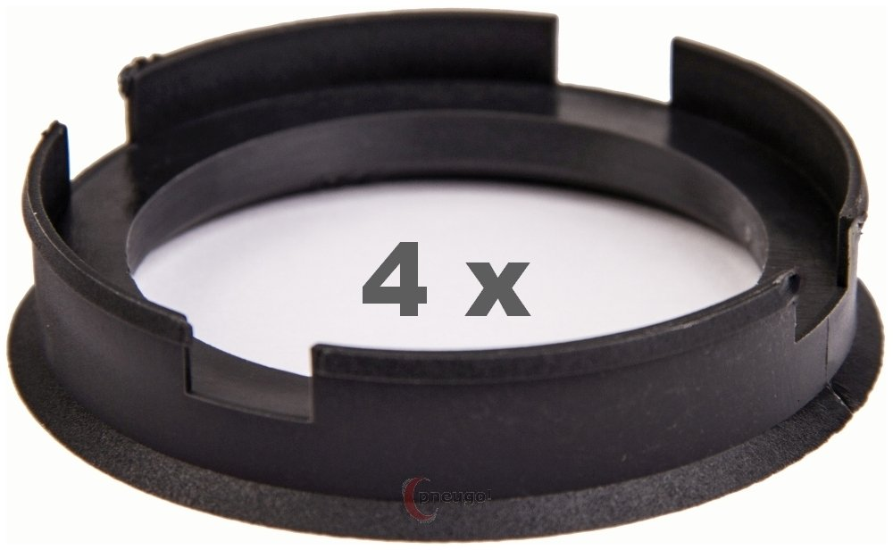 4 anelli di centraggio da 72,6 mm a 56,6 mm, antracite/antracite Pneugo