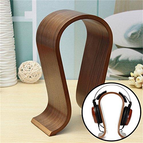 Wooden U-shape Display Stand Hanger Holder Rack for Headset Earphone Headphone by BephaMart (Image #2)