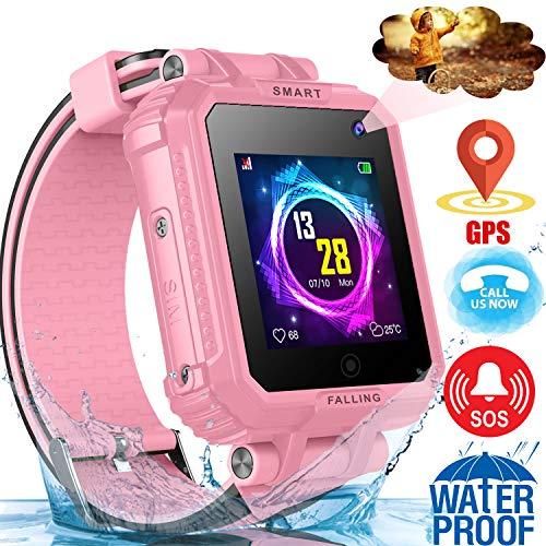 "Kids Smart Watch GPS Tracker Phone-IP68 Waterproof 1.54"" Tou"