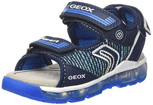 Sandali Geox J820qa 014bu C0693 Nero-grigio-blu
