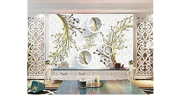 Mural Fotográfico Hermosas Ramas Deja Geometría Abstracta 3D Arte Pared Sala De Estar Dormitorio Tv Fondo Pintura Mural 150(An) X105(H) Cm: Amazon.es: Bricolaje y herramientas