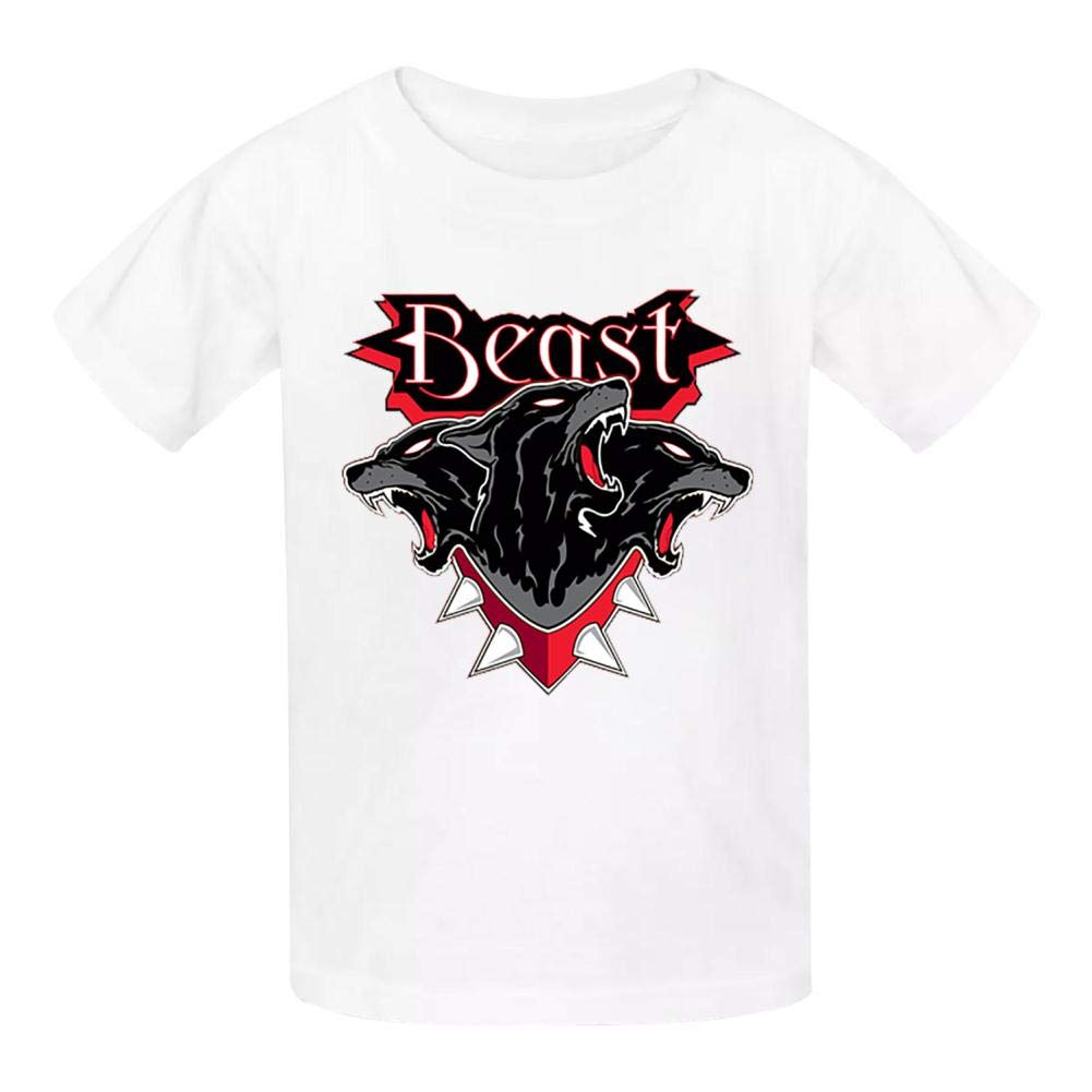 Della Graham Beast Children and Adolescent 3D Printed Outdoor Short-Sleeved T-Shirt XS White